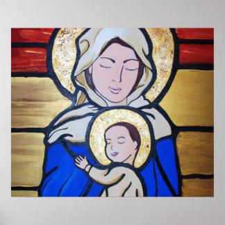 マドンナおよび子供イエス・キリスト ポスター