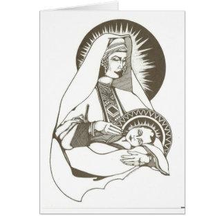 マドンナおよび子供 カード