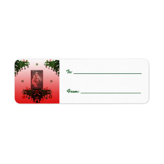 マドンナおよび子供[クリスマス] 返信用宛名ラベル