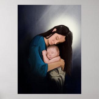 マドンナおよび子供 ポスター