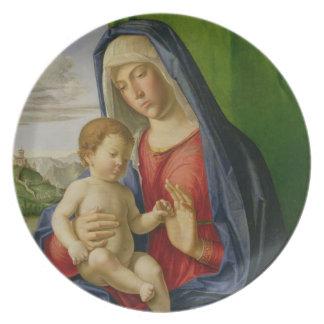 マドンナおよび子供、1490s プレート
