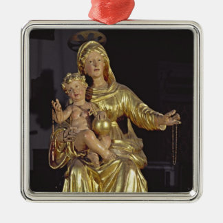 マドンナおよび子供、17世紀(金めっきされた木) メタルオーナメント