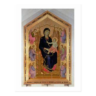マドンナおよび子供(Rucellaiマドンナ) 1285年(テンペラ ポストカード