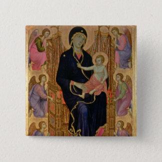 マドンナおよび子供(Rucellaiマドンナ) 1285年(テンペラ 5.1cm 正方形バッジ