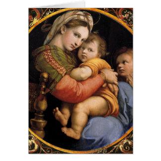 マドンナのdellaのsediaのクリスマスカード カード