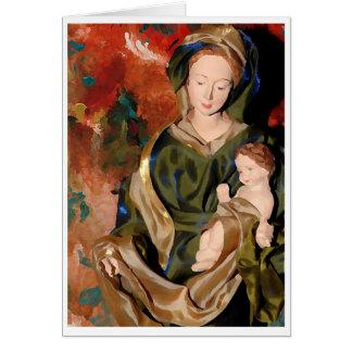 マドンナ及びベビーイエス・キリスト カード