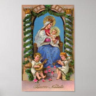 マドンナ及び子供のクリスマスの休日ポスター ポスター