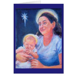 マドンナ及び子供のクリスマスカード カード