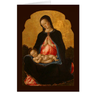 マドンナ及び子供の芸術の挨拶状 カード