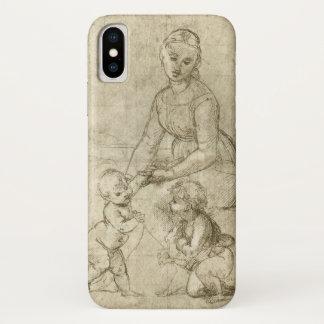 マドンナwキリスト及び聖ヨハネRapahel著バプテスト iPhone X ケース