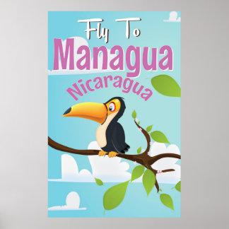 マナグア、ニカラグアのヴィンテージ旅行ポスター ポスター