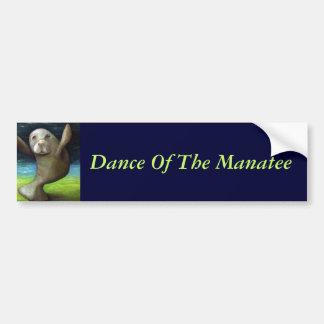 マナティーのダンス バンパーステッカー