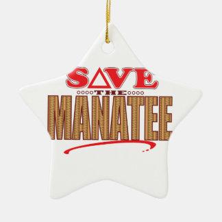 マナティーの保存 セラミックオーナメント