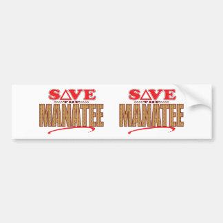 マナティーの保存 バンパーステッカー