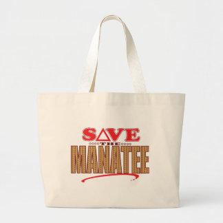 マナティーの保存 ラージトートバッグ