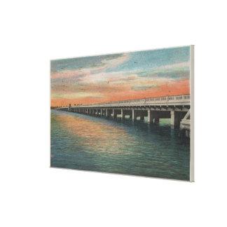 マナティーの川上の百万のドル橋、 キャンバスプリント