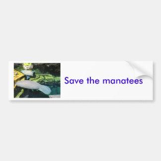 マナティーを救って下さい バンパーステッカー