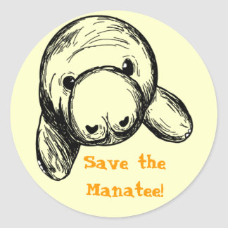 マナティーを救って下さい! ラウンドシール