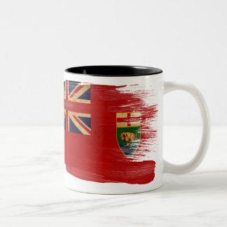 マニトバの旗のマグ ツートーンマグカップ
