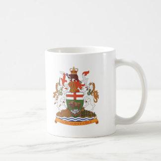 マニトバの紋章付き外衣 コーヒーマグカップ