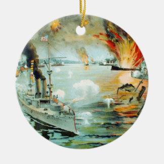マニラ湾のスペインのなアメリカ戦争の戦い セラミックオーナメント