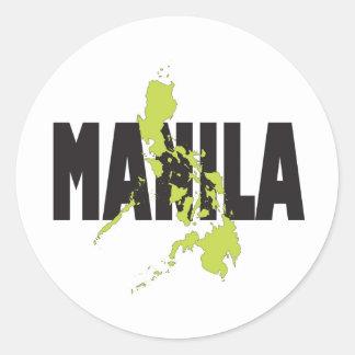 マニラ、フィリピン 丸型シール