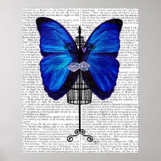 マネキンの青の蝶 ポスター