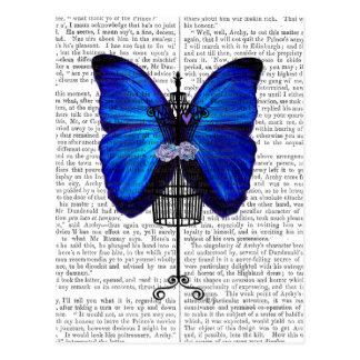 マネキンの青の蝶 ポストカード