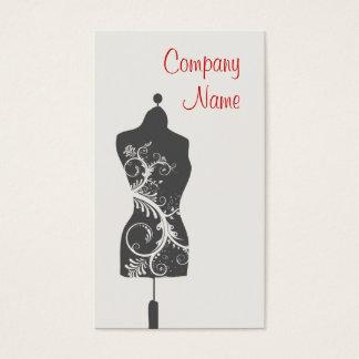 マネキンを合わせている裁縫婦 名刺