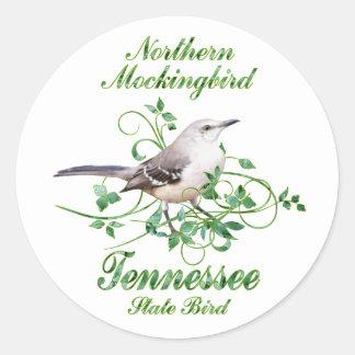 マネシツグミのテネシー州の州鳥 ラウンドシール