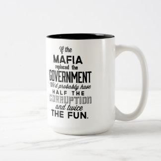 マフィアが政府を取り替えたら ツートーンマグカップ