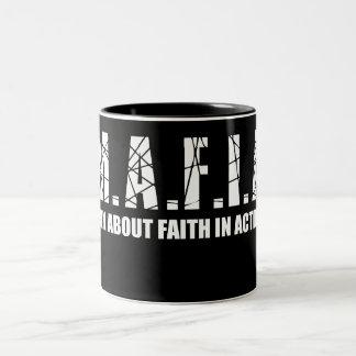 マフィアのコーヒー・マグ ツートーンマグカップ