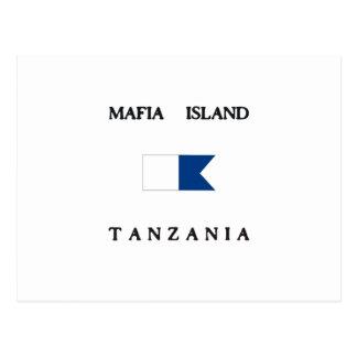 マフィアの島のタンザニアのアルファ飛び込みの旗 ポストカード