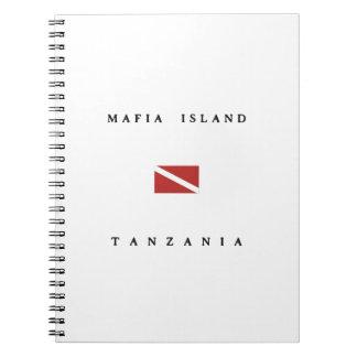 マフィアの島のタンザニアのスキューバ飛び込みの旗 ノートブック