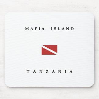 マフィアの島のタンザニアのスキューバ飛び込みの旗 マウスパッド