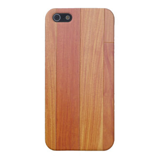 マホガニーのスラット iPhone 5 CASE