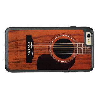 マホガニーの上のアコースティックギター オッターボックスiPhone 6/6S PLUSケース