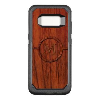 マホガニーの木製のモノグラム オッターボックスコミューターSamsung GALAXY S8 ケース