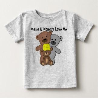 ママおよびお母さんは私を愛します ベビーTシャツ