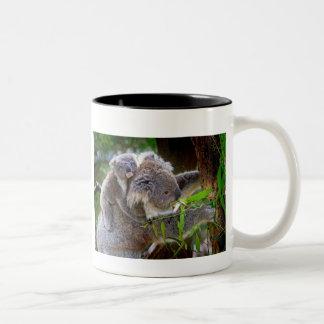 ママおよびベビーのコアラ ツートーンマグカップ