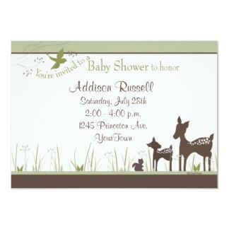 ママおよびベビーのシカのシャワーの招待状 カード