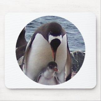 ママおよびベビーのペンギン マウスパッド