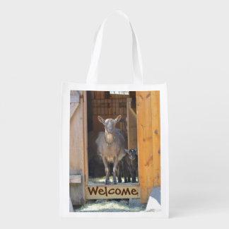 ママおよびベビーのヤギの市場のバッグ エコバッグ