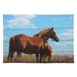 ママおよび子馬のアメリカ人のMoJoのランチョンマット ランチョンマット
