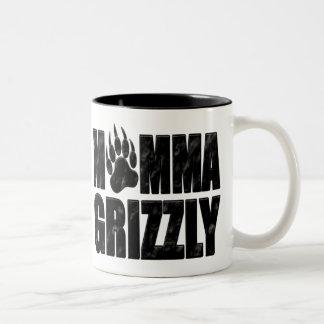 ママのハイイログマ ツートーンマグカップ