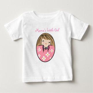 ママの小さな女の子 ベビーTシャツ