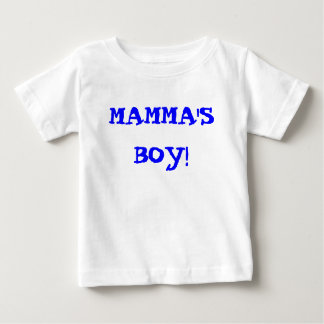 ママの男の子! ベビーTシャツ