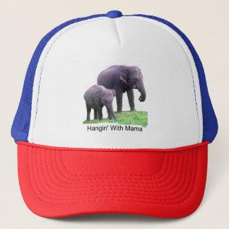 ママの象、トラック運転手の帽子とのHangin キャップ