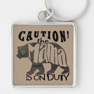 ママは義務に関係します: 注意! Keychain キーホルダー