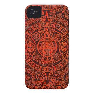 マヤのカレンダーのブラックベリーの箱 Case-Mate iPhone 4 ケース